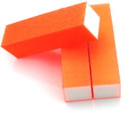 4 Way Nail Buffer  ,NEON Orange  002