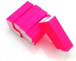 4 Way Nail Buffer ,NEON Pink  002