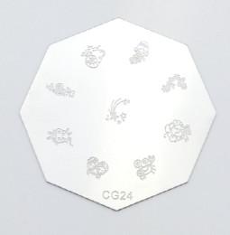 Körömnyomda mintázó korong G24