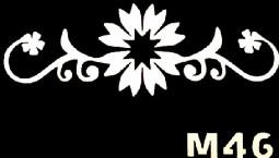 Csillám tetováló sablon 5x8cm TS-M46  M46