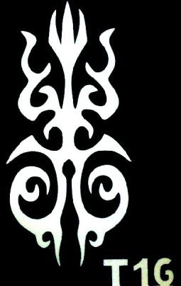 Csillám tetováló sablon 5x8cm TS-T16  T16