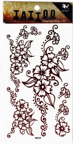 Henna tetoválás matrica 10cmX17cm HM458  458