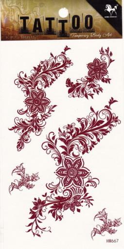 Henna tetoválás matrica 10cmX17cm HM667  667