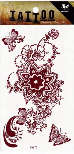 Henna tetoválás matrica 10cmX17cm HM670  670
