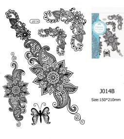 Henna tetoválás matrica 15cmX21cm J014B  14B