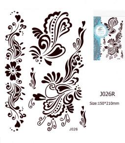 Henna tetoválás matrica 15cmX21cm J026R  26R