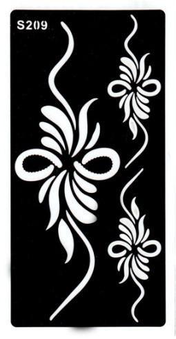 Henna tetováló sablon 10cmX18cm  209