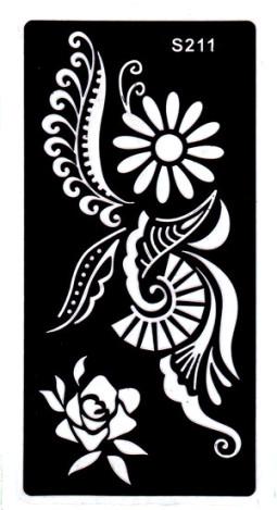 Henna tetováló sablon 10cmX18cm  211