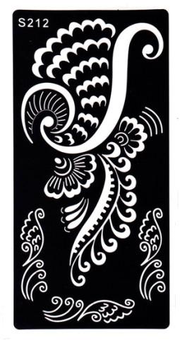 Henna tetováló sablon 10cmX18cm  212