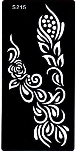 Henna tetováló sablon 10cmX18cm  215