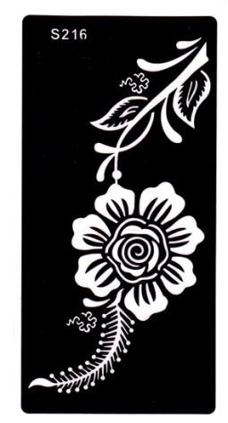Henna tetováló sablon 10cmX18cm  216