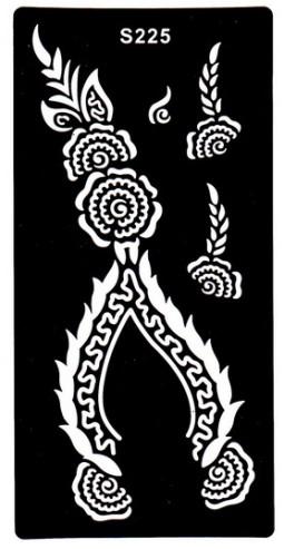 Henna tetováló sablon 10cmX18cm  225