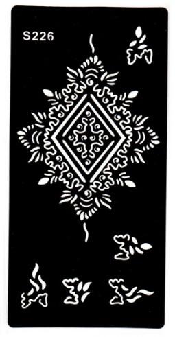Henna tetováló sablon 10cmX18cm  226