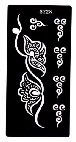 Henna tetováló sablon 10cmX18cm  228