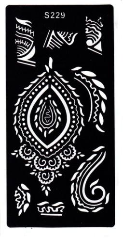 Henna tetováló sablon 10cmX18cm  229