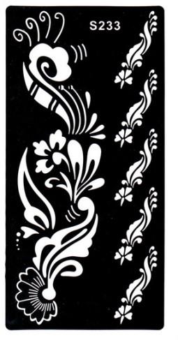 Henna tetováló sablon 10cmX18cm  233