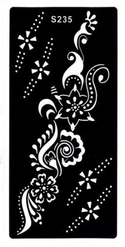 Henna tetováló sablon 10cmX18cm  235