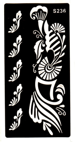 Henna tetováló sablon 10cmX18cm  236