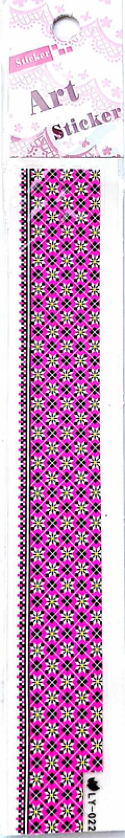 Köröm  matrica ,öntapadós, LY-022  022