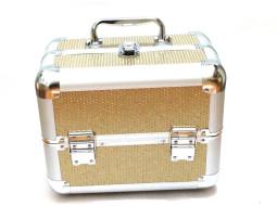 Kozmetikai bőrönd,Műkörmös táska,glitter,Arany   280