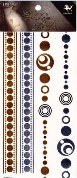 Metál tetoválás matrica 11cmX21cm  GHM015  015