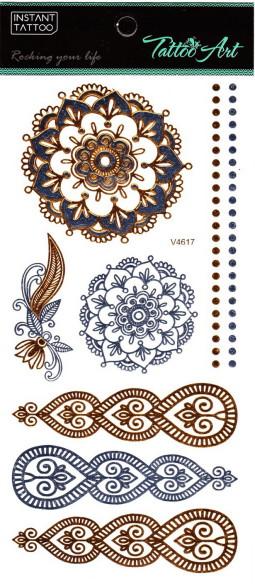 Metál tetoválás matrica 11cmX21cm  V4617  617