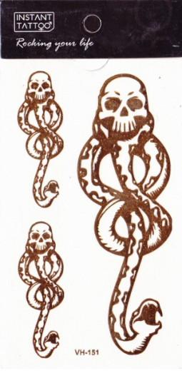 Metál tetoválás matrica 6.5cmX11cm  VH151  151