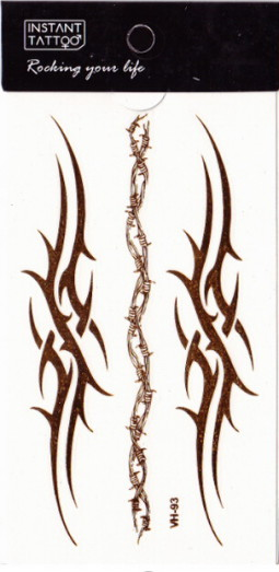 Metál tetoválás matrica 6.5cmX11cm  VH93  H93