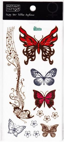 Metál tetoválás matrica 9cmX17cm  V4006  006
