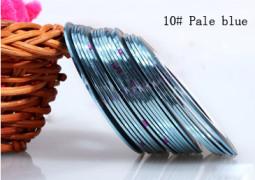 Műköröm díszítő csík 10-Pale blue  010