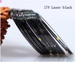 Műköröm díszítő csík 17-Laser black  017