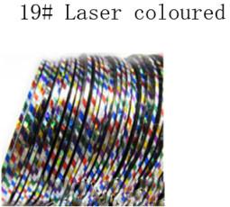 Műköröm díszítő csík 19-Laser coloured  019