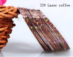 Műköröm díszítő csík 22-Laser coffee  022