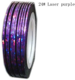 Műköröm díszítő csík 24-Laser purple  024