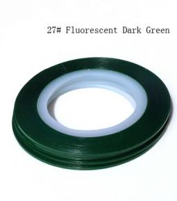 Műköröm díszítő csík 27-Fluorescent Dark Green  027