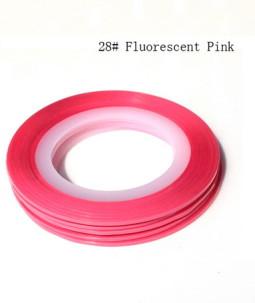 Műköröm díszítő csík 28-Fluorescent pink  028