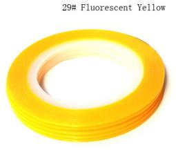 Műköröm díszítő csík 29-Fluorescent Yellow  029