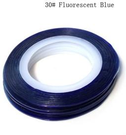 Műköröm díszítő csík 30-Fluorescent Blue  030