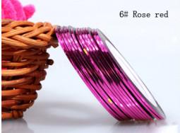 Műköröm díszítő csík 6-Rose red  006