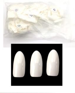 Műköröm Tip 500db,kerek,Fehér  012