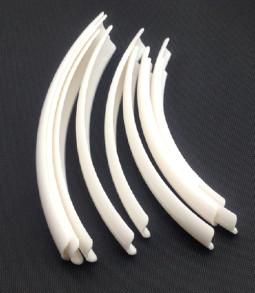 Óriás műköröm tip 10db készlet Szögletes-Fehér  003