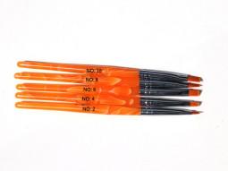 Zselé ecset lapos G1-narancs  003